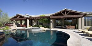 Attractive Home Patio With Pool